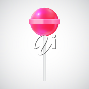 Realistic Sweet Lollipop Candy Isolated on White Background. Vector Illustration EPS10