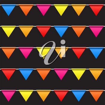 Party Background with Flags Seamless Pattern Vector Illustration. EPS10