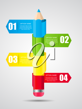 Timeline Infographic Template for Business Vector Illustration