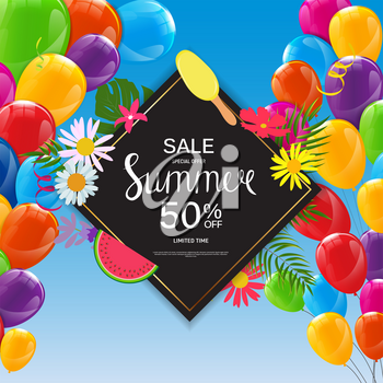 Summer Sale Abstract Background Vector Illustration EPS10