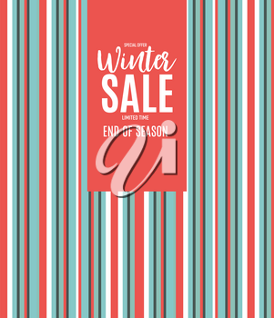 End of Winter Sale Background, Discount Coupon Template. Vector Illustration eps10