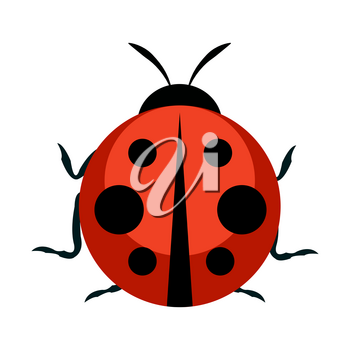 Cute Ladybug Icon. Vector Illustration EPS10