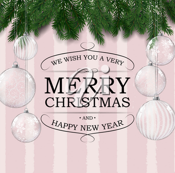 Merry Christmas and Happy New Year posters. Vector illustration. EPS10