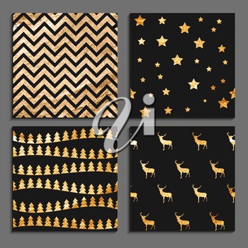 Abstract Winter, Christmas and New Year Seamless Pattern Background Set with Glitter Splash in Modern Style. Vector Illustration EPS10