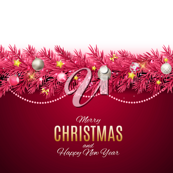Merry Christmas and New Year Background. Vector Illustration EPS10