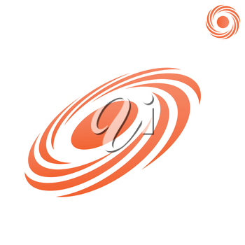 Atmospheric front icon, storm logo, o letter shape, 2d & 3d vector on white background, eps 8