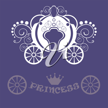 Beautiful vintage carriage for girls and princess. In the purple