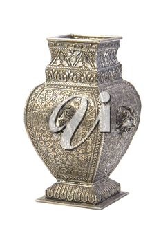 Silver vase. Isolated