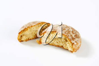 Russian gingerbread cookie glazed with sugar syrup