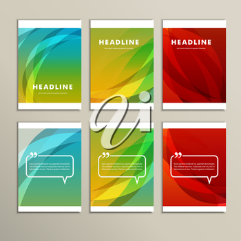 Set of banners for design in abstract style.