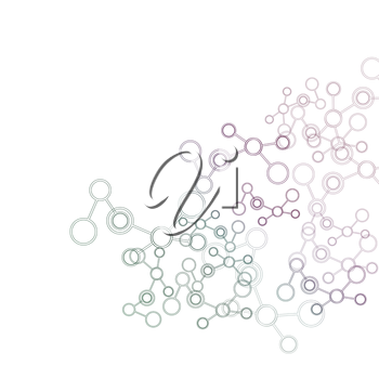 Network And Connection Background. Minimal Molecule Background.