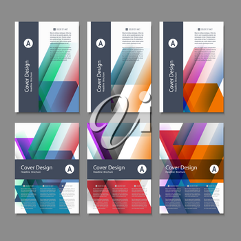 Vector Brochure Flyer design Layout template, size A4, Front page and back page. Use for your design.