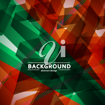 Abstract vector background of chaotic shapes eps.