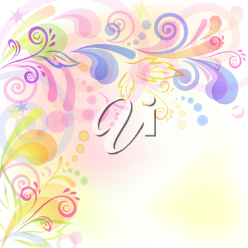 Abstract background with symbolical flower and figures. Vector eps10, contains transparencies
