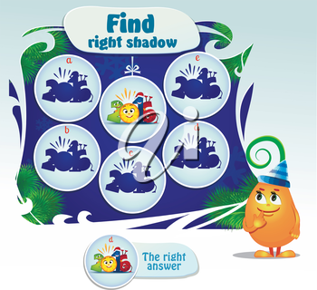 Visual Game for children. Task: find right shade