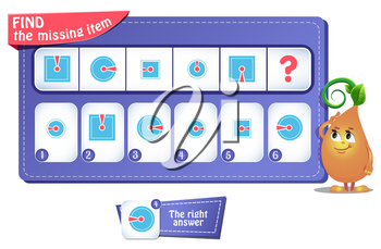 educational game for kids and adults. development of logic, iq. Task game  what comes next?