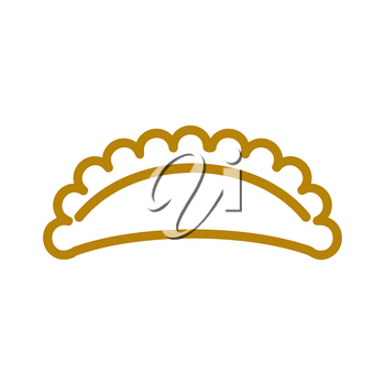 cheburek line icon. wheat  Sign for production of bread and bakery