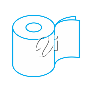 Toilet paper two layers roll icon. Symbol for packing. Vector illustration