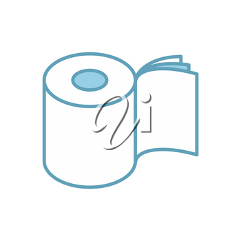 Toilet paper three layers roll icon. Symbol for packing. Vector illustration