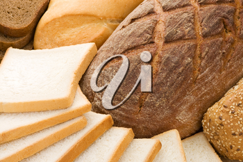 assortment of baked bread as background