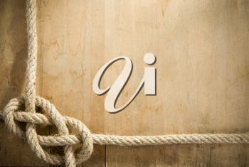 ship ropes and wood background texture