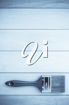 paint brush  on wooden background