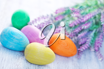 decorative painted Easter eggs, color eggs, easter background