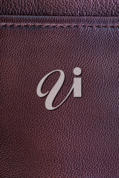 Brown leather texture closeup background, leather background