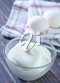 whipping eggs with cream