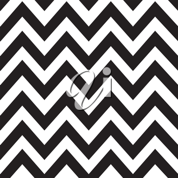 Classic zigzag lines pattern on black background. Vector design