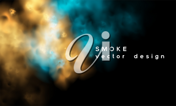 Smoke vector background. Abstract fog composition illustration. eps10