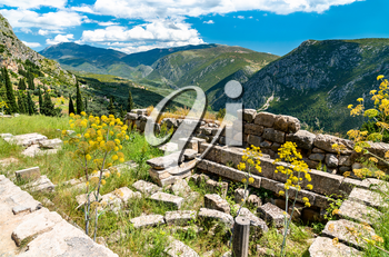 Archaeological Site of Delphi. UNESCO world heritage in Greece
