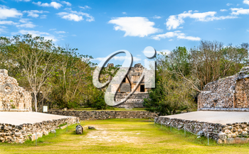 Uxmal, an ancient Maya city of the classical period. UNESCO world heritage in Mexico