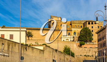 View of the walls of the Vatican city - Rome