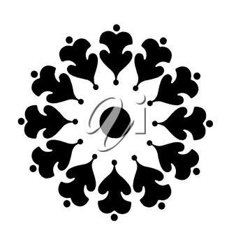 Royalty Free Clipart Image of a Floral Design
