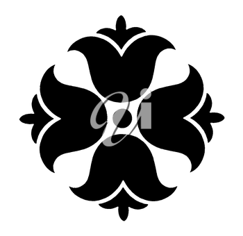Royalty Free Clipart Image of a Decorative Floral Element