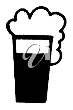 Royalty Free Clipart Image of a Foaming Drink