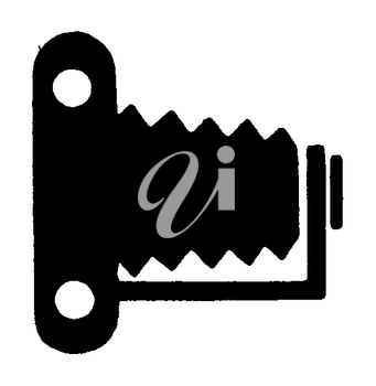 Royalty Free Clipart Image of an Antique Camera