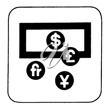 Royalty Free Clipart Image of Currency Symbols