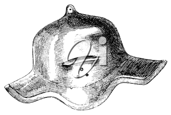 Royalty Free Clipart Image of a Cervelliere Helmet