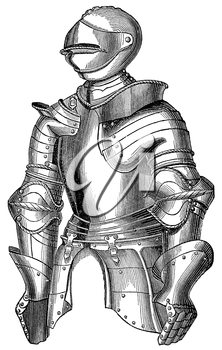 Royalty Free Clipart Image of a Knights Armour