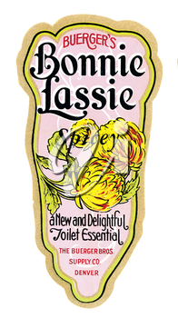 Royalty Free Photo of a Vintage Perfume Label
