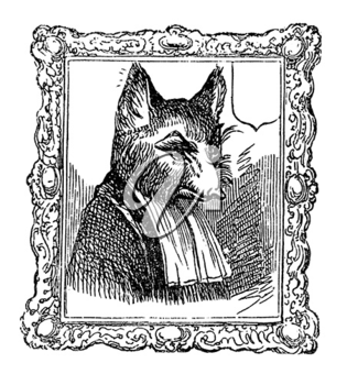 Royalty Free Clipart Image of an Animal Portrait