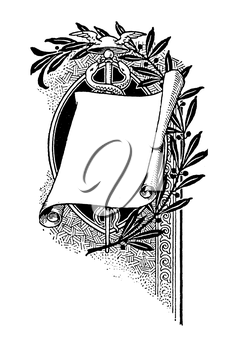 Royalty Free Clipart Image of a Page of Paper