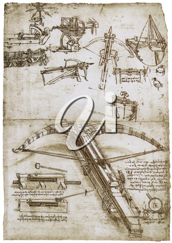 Royalty Free Clipart Image of Van Gogh's Weapon Concept