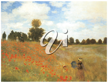 Royalty Free Clipart Image of a Monet Painting