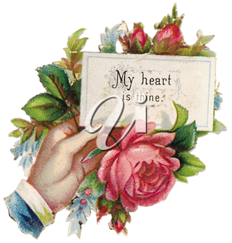 Royalty Free Clipart Image of a Vintage Valentine