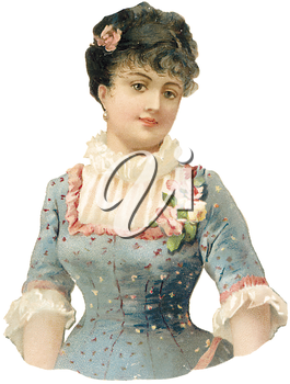 Royalty Free Clipart Image of a Vintage Illustration of a Woman