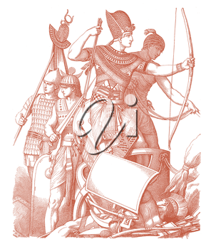 Royalty Free Clipart Image of Soldiers