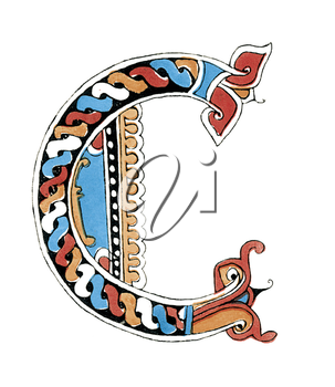 Royalty Free Clipart Image of a Letter C